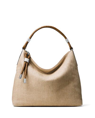 Skorpios Top-Zip Shoulder Bag, Dune