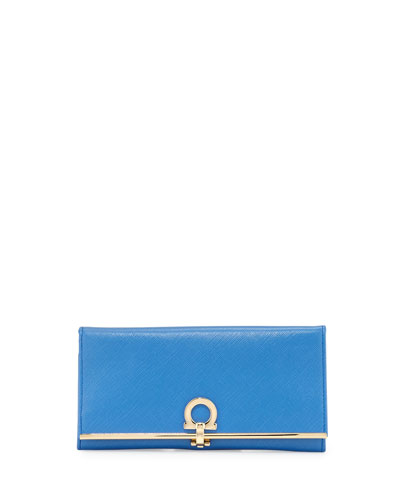 Icona Continental Wallet, Blue Indien