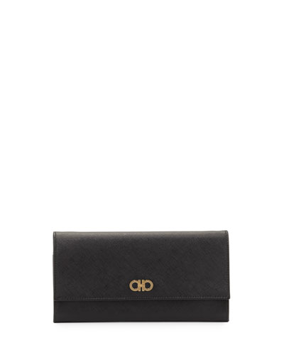 Gancini Icona Mini Wallet-On-Chain, Nero