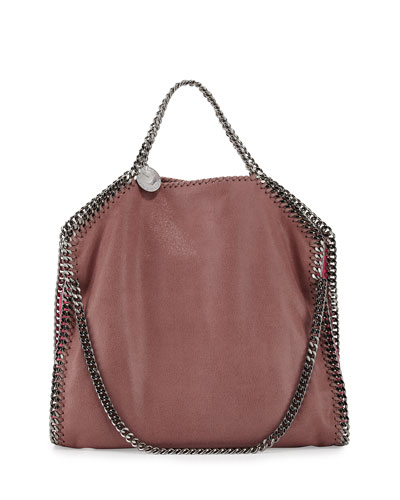 Falabella Small Colorblock Fold-Over Tote Bag, Rose/Multi