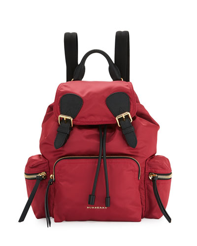 Medium Rucksack Runway Nylon Backpack, Plum Pink
