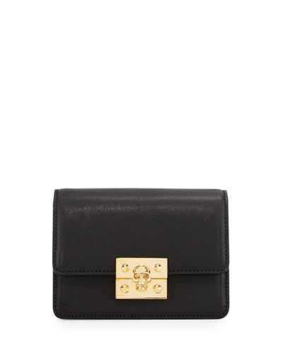Skull Mini Chain Shoulder Bag, Black