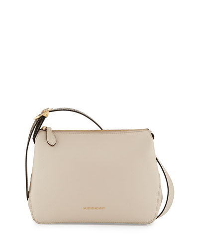 Helmsley Small Python & Leather Crossbody Bag, Limestone