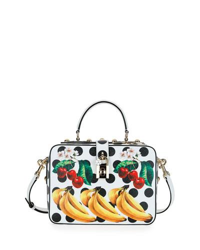 Dolce Tropical-Fruit Top-Handle Satchel Bag, Multi