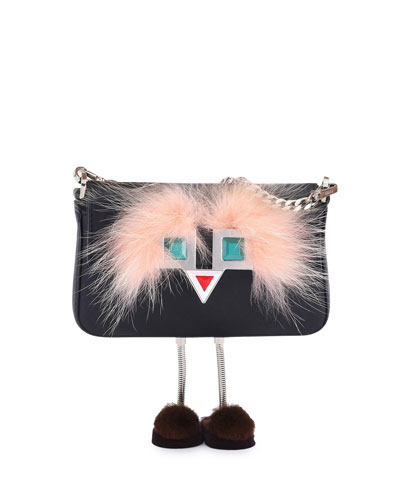 Baguette Micro Metal Eyes Bag w/Legs, Black