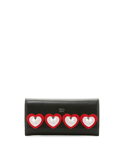 Heart Studs Wallet On A Chain