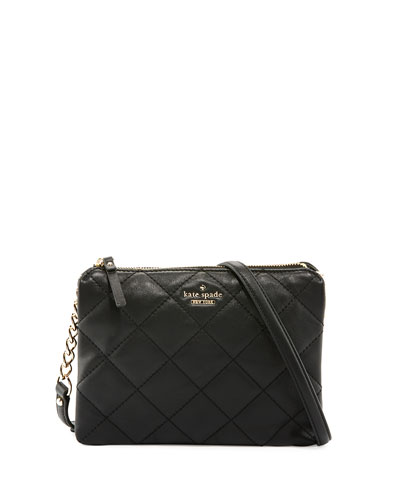 emerson place harbor quilted crossbody bag, black