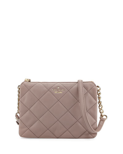 emerson place harbor quilted crossbody bag, porcini