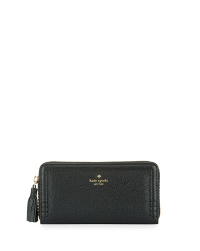 orchard street lacey continental wallet, black