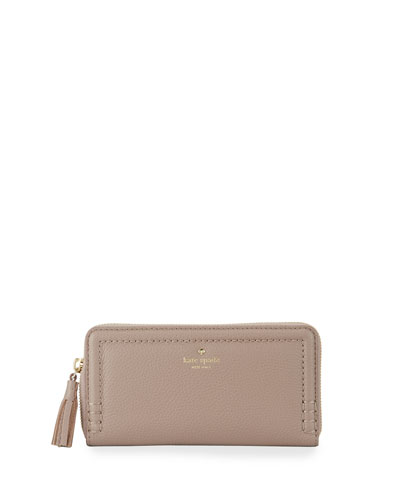orchard street lacey continental wallet, porcini