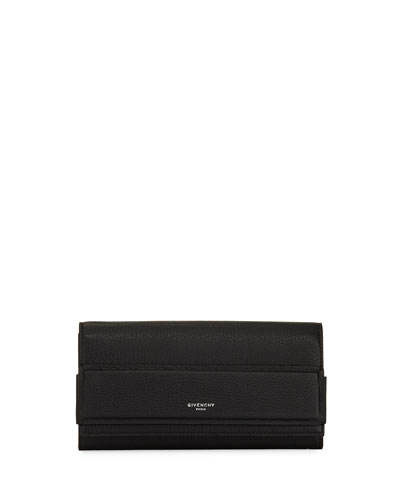 Horizon Continental Flap Wallet, Black