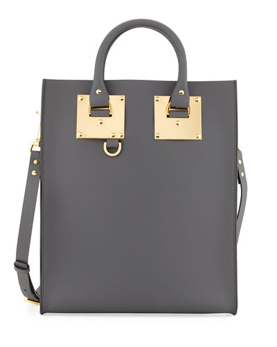 Mini Albion North-South Tote Bag, Charcoal