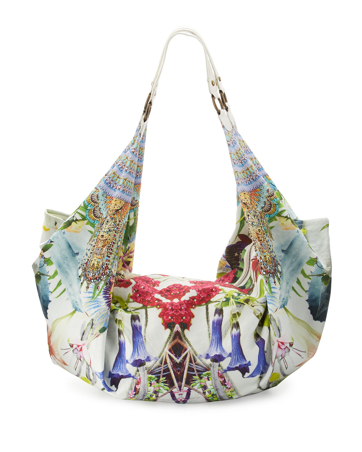 Embellished Soft Beach Bag, Exotic Hypnotic