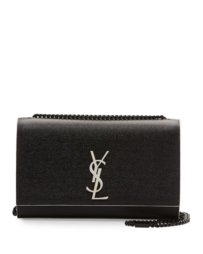 Kate Monogram Medium Crossbody Bag, Black/White