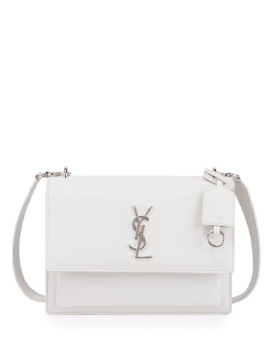 Sunset Medium Crossbody Bag, White