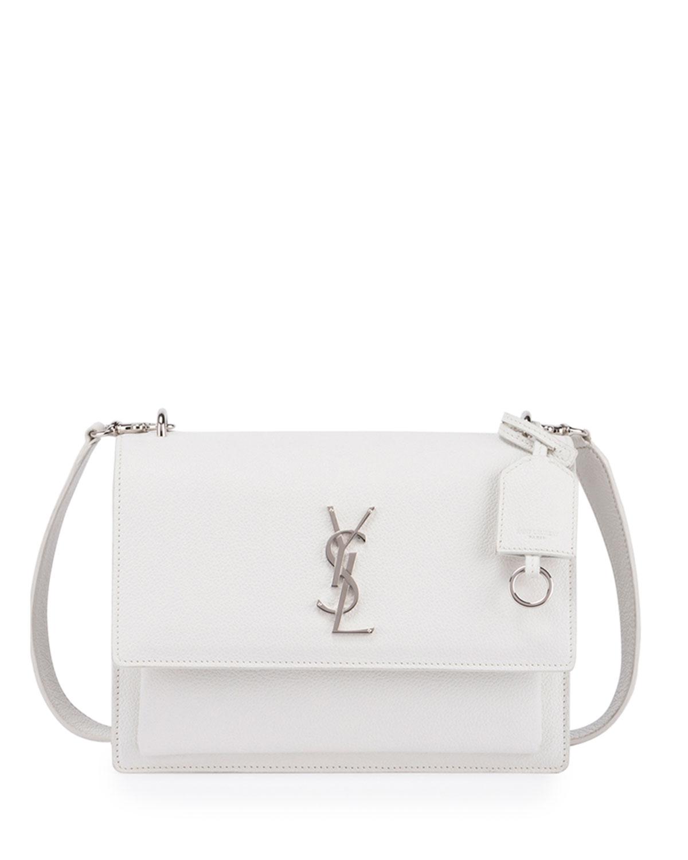 Sunset Medium Crossbody Bag, White