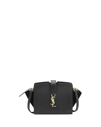 Monogram Cabas Mini Crossbody Bag, Black