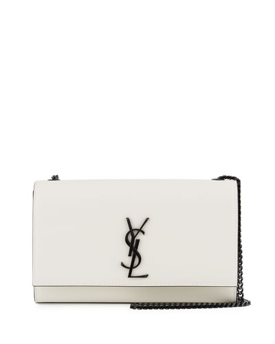 Kate Monogram Medium Crossbody Bag, White/Black
