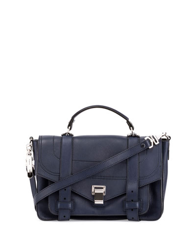 PS1+ Medium Leather Satchel Bag, Indigo