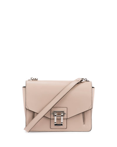 Hava Leather Shoulder Bag, Sand