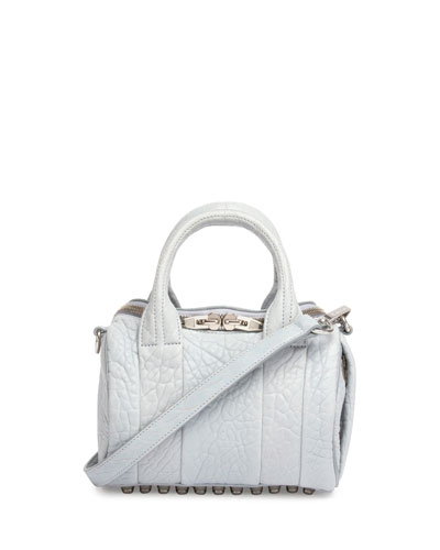 Mini Rockie Leather Satchel Bag, Powder