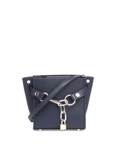 Attica Mini Chain Satchel Bag, Navy