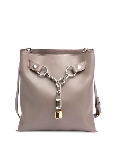 Attica Chain Crossbody Bag, Mink Gray