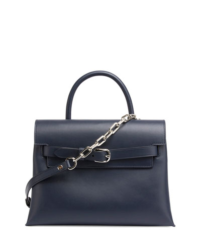 Attica Chain Crossbody Bag, Navy