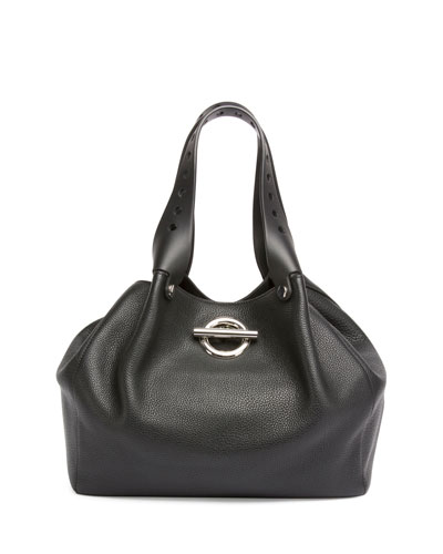 Riot Leather Tote Bag, Black
