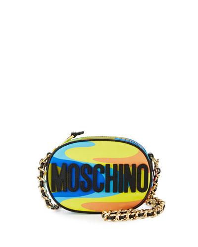 Oval Logo Chain Camera Bag, Multicolor