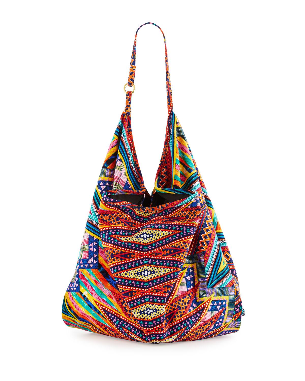Color Me Happy Canvas Beach Bag