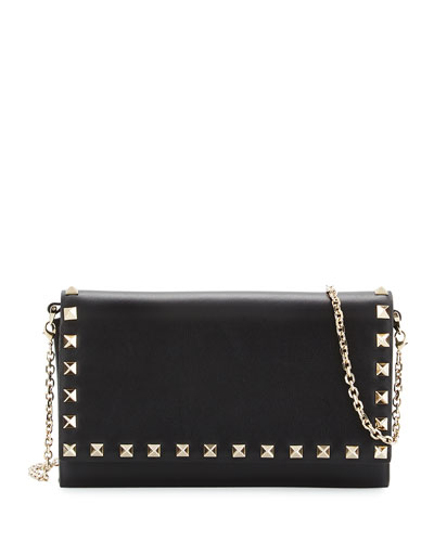 Rockstud Large Wallet-on-Chain, Black
