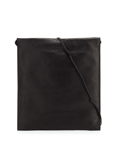 Medicine Large Pouch Bag in Puffy Nappa, Black