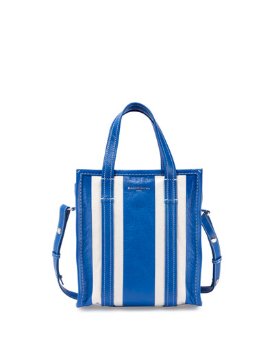 Bazar Shopper Arena Striped Extra-Small Tote Bag, Blue/White (Bleu ...
