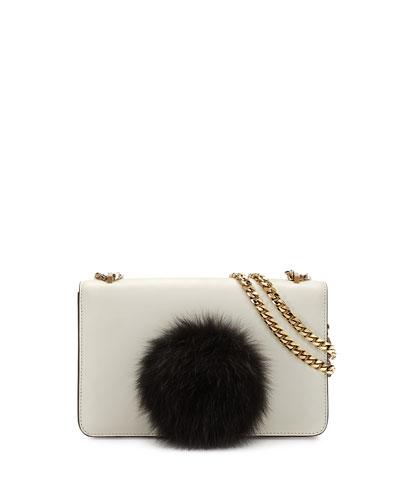 Mini Janis Bunny Crossbody Bag, White/Red
