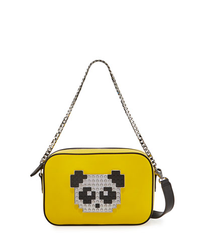 Roy Metal Panda Crossbody Bag, Yellow