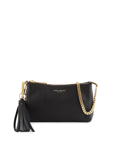 Rue Leather Crossbody Bag, Black