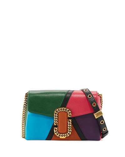 St. Marc Colorblock Clutch Bag, Green/Multi