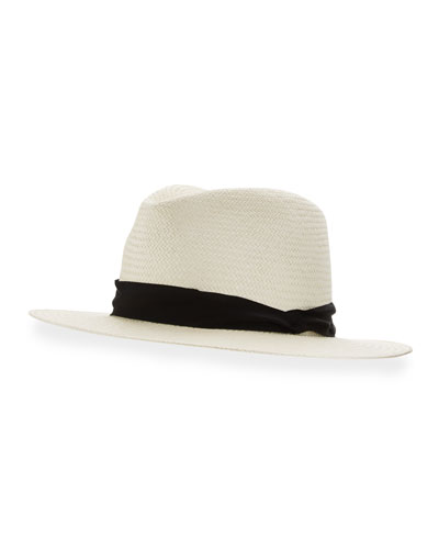 Panama Straw Hat, White