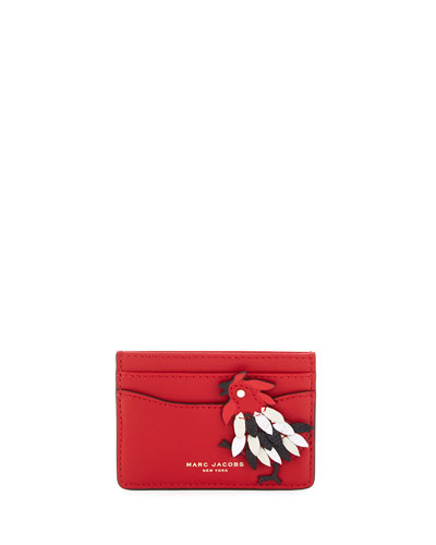 Fire Rooster Card Case, Scarlet