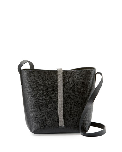Monili-Tab Small Crossbody Bag, Black