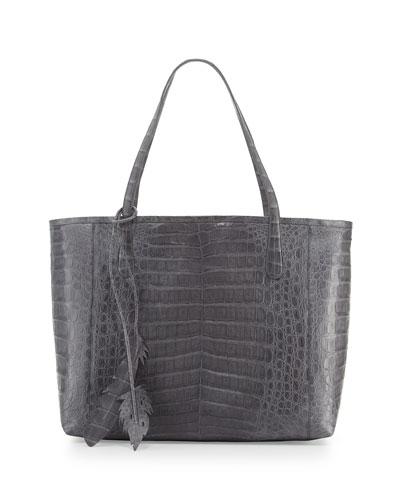 Erica New Crocodile Leaf Tote Bag