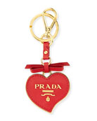 Saffiano Heart Charm, Red (Rosso)