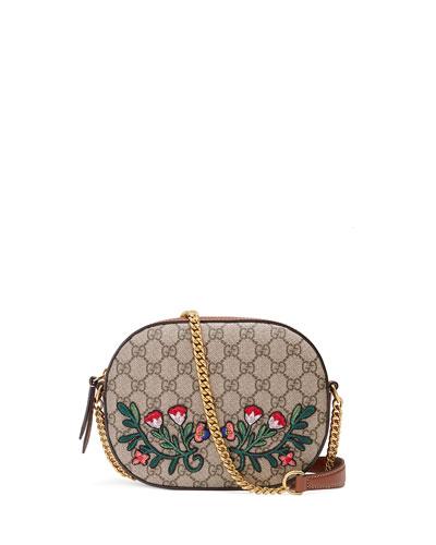 GG Supreme Embroidered Mini Chain Bag, Multi