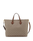 GG Supreme Top-Handle Tote Bag, Tan