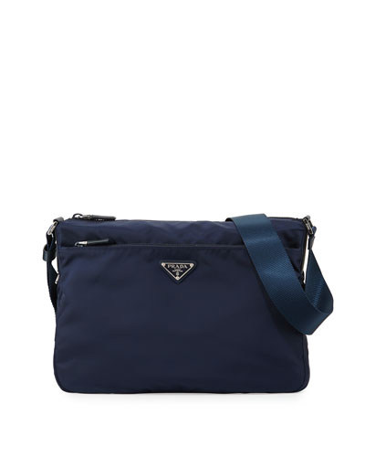 Vela Nylon Shoulder Bag,  Blue (Baltico)