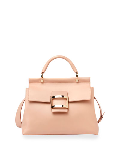 Viv Cabas Medium Top-Handle Satchel Bag, Nude