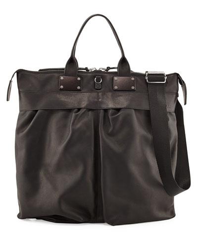 Pilot Leather Tote Bag, Black