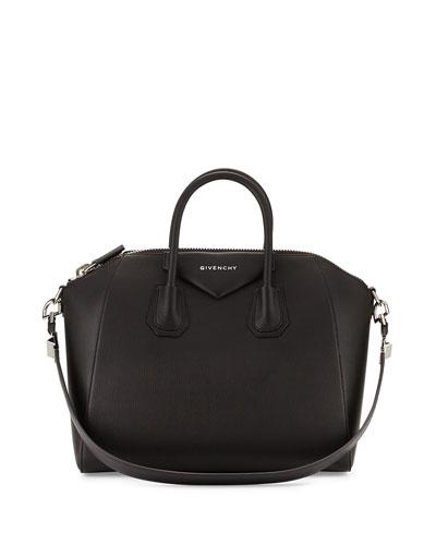Antigona Medium Leather Satchel Bag