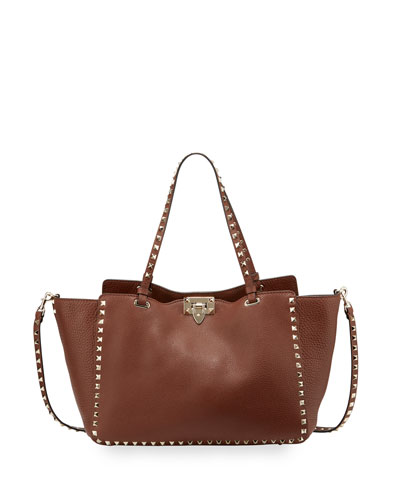 Rockstud Medium Grained Tote Bag